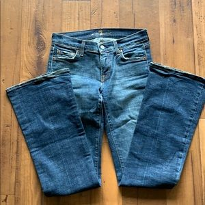 Flare dark wash 7 for all mankind jeans